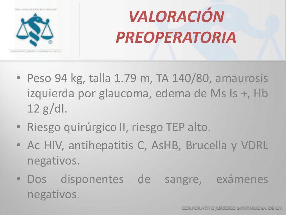 VALORACIÓN PREOPERATORIA
