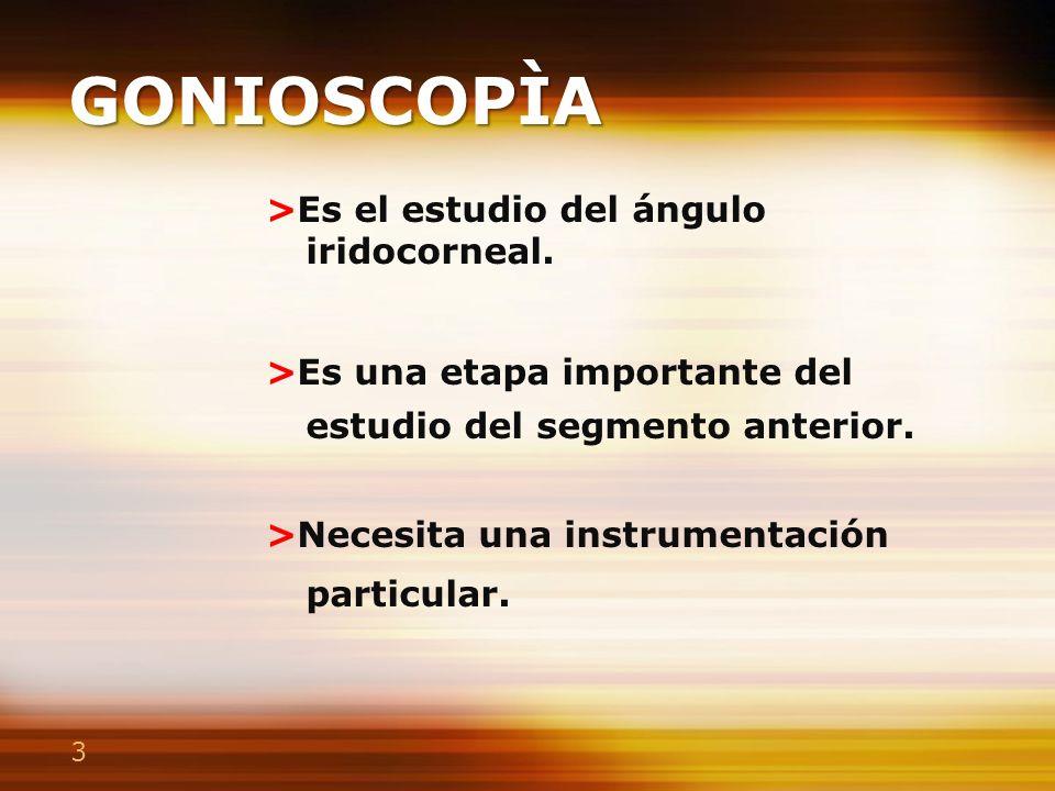 Lentes para Gonioscopía
