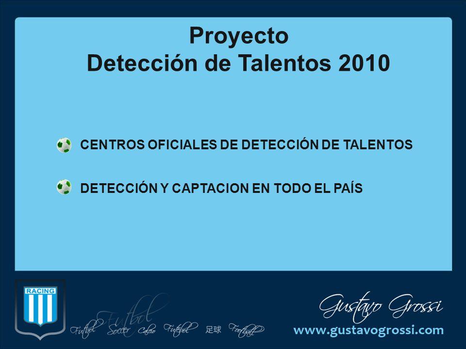 Proyecto Detección de Talentos 2010