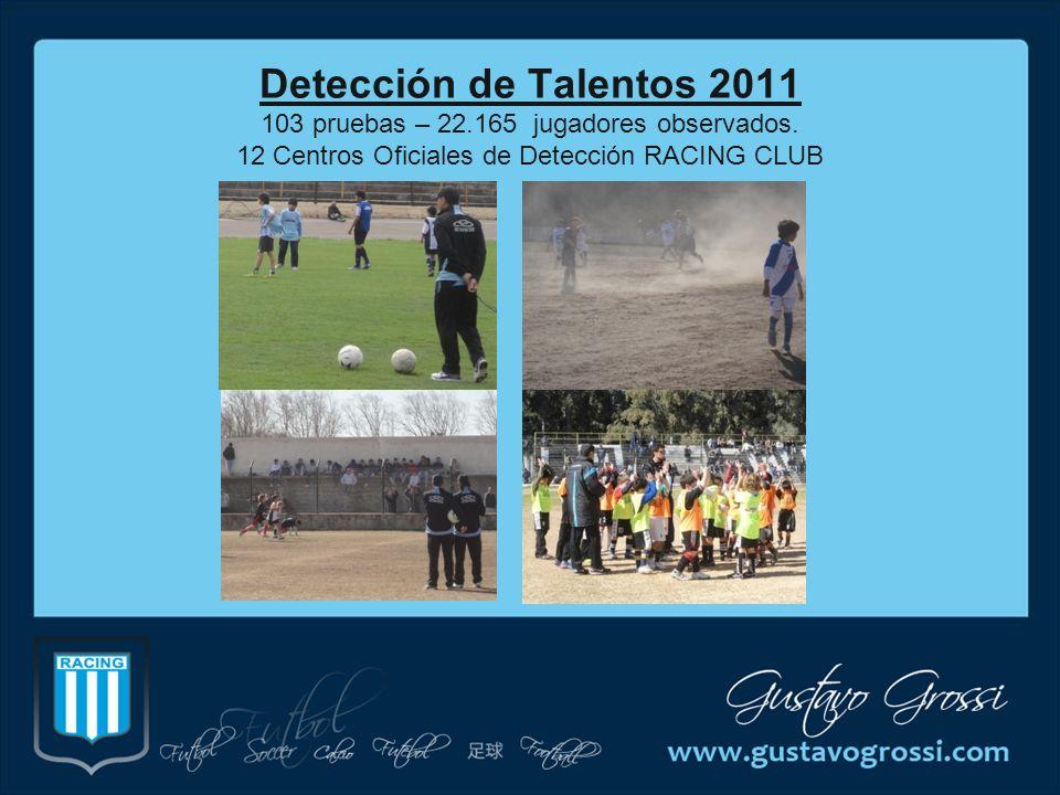 Detección de Talentos 2011 103 pruebas – 22. 165 jugadores observados