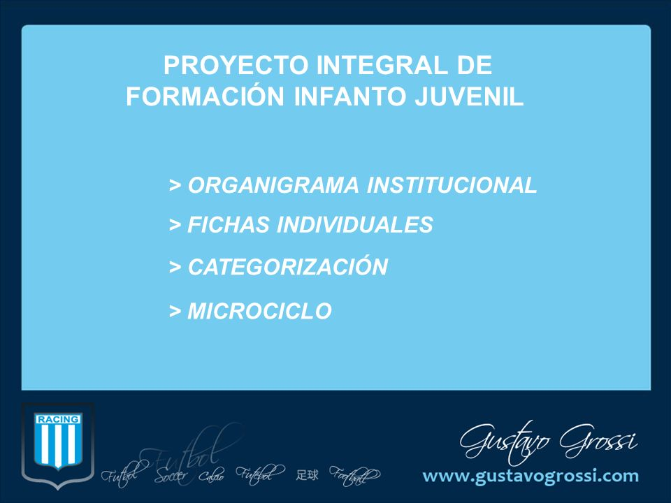 PROYECTO INTEGRAL DE FORMACIÓN INFANTO JUVENIL
