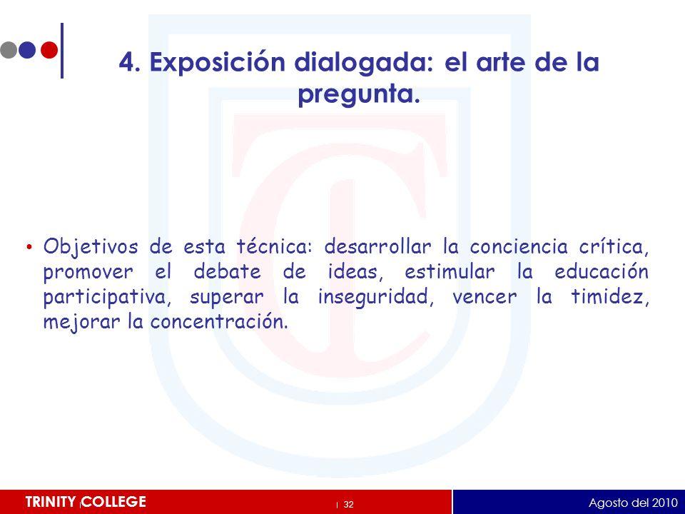4. Exposición dialogada: el arte de la pregunta.