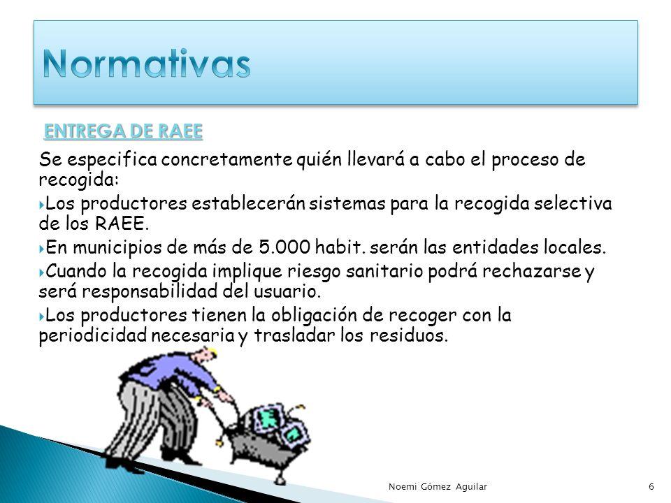 Normativas ENTREGA DE RAEE