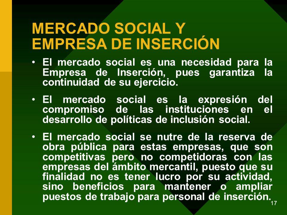MERCADO SOCIAL Y EMPRESA DE INSERCIÓN