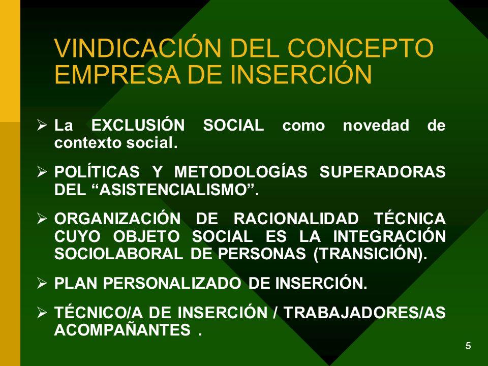 VINDICACIÓN DEL CONCEPTO EMPRESA DE INSERCIÓN