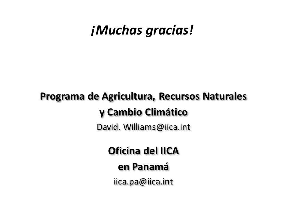 Programa de Agricultura, Recursos Naturales
