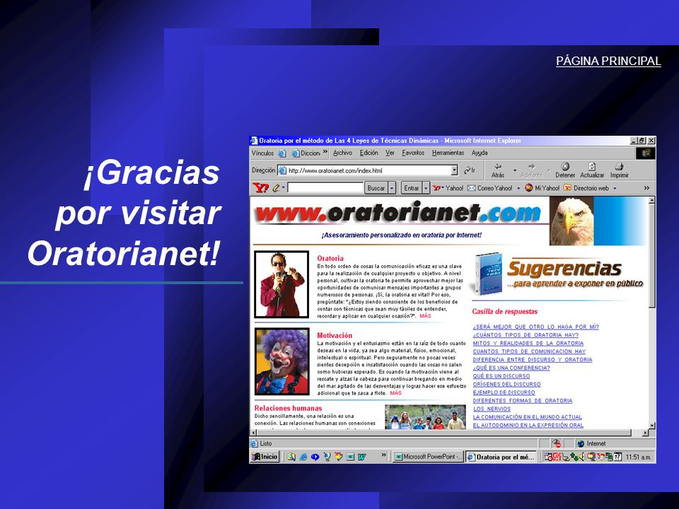 ¡Gracias por visitar Oratorianet!