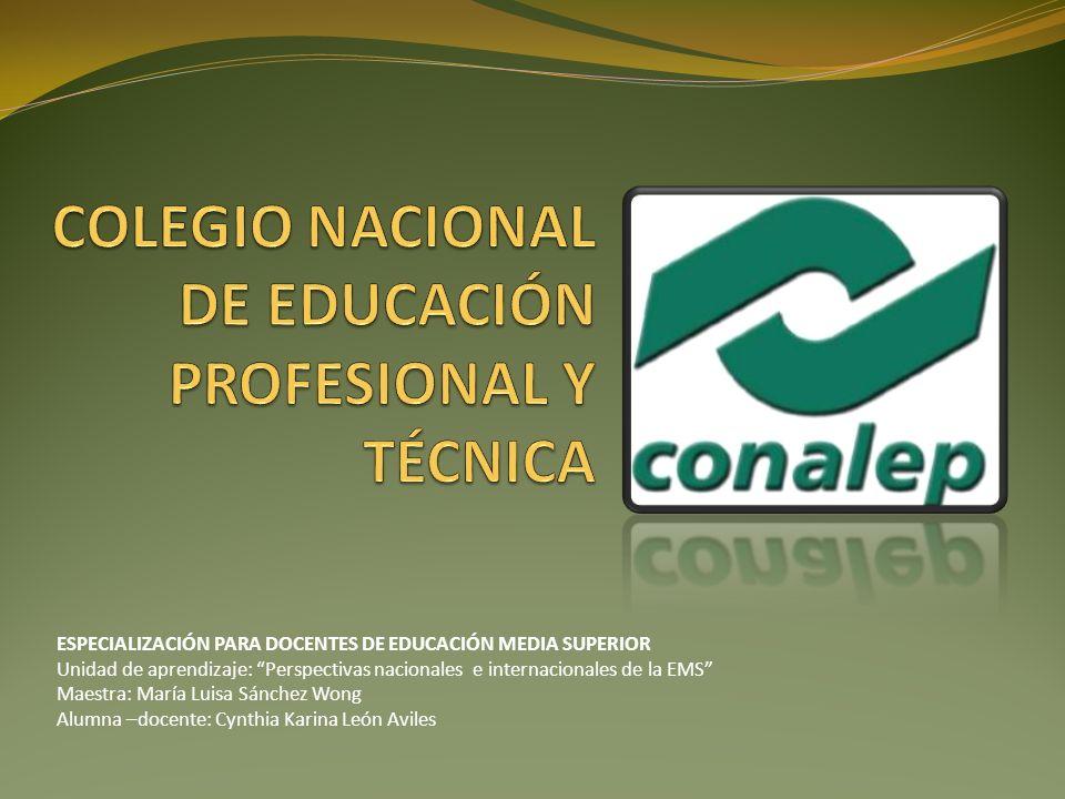 COLEGIO NACIONAL DE EDUCACIÓN PROFESIONAL Y TÉCNICA