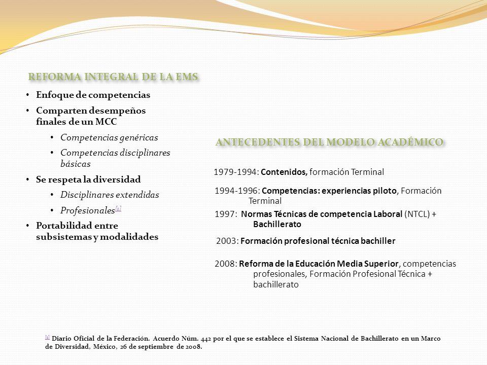 REFORMA INTEGRAL DE LA EMS