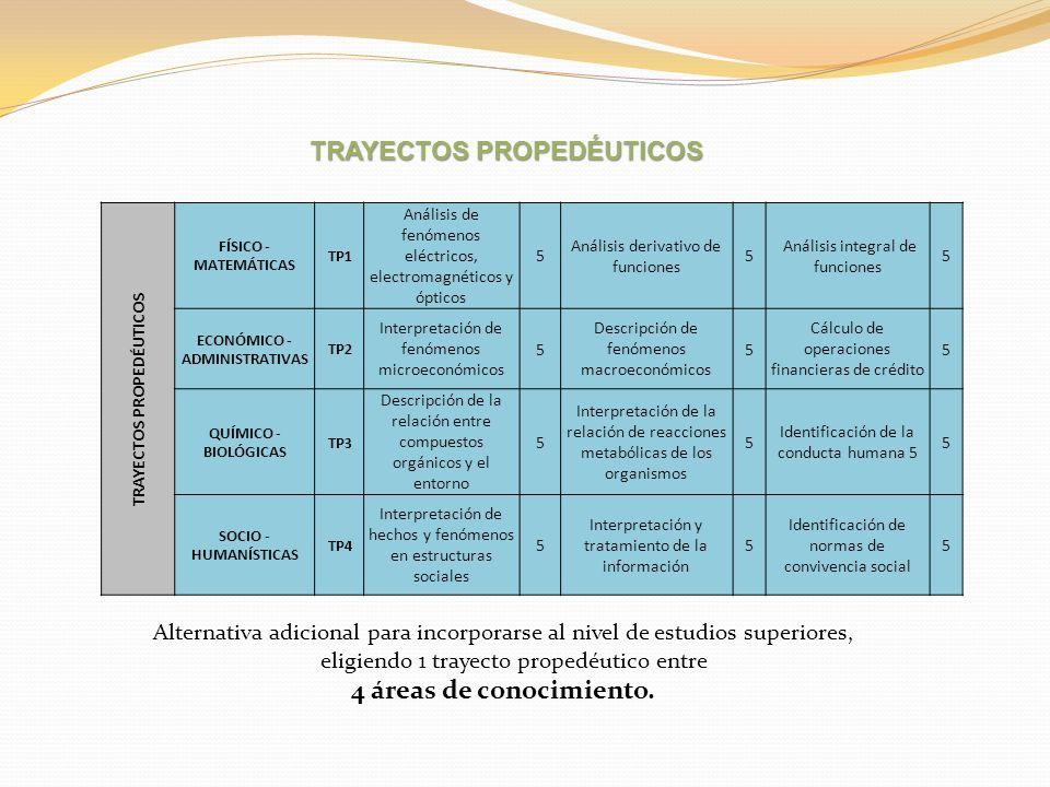 TRAYECTOS PROPEDÉUTICOS
