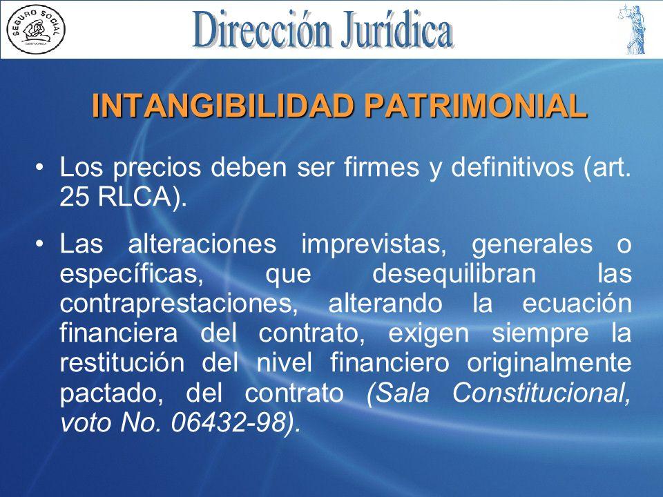 INTANGIBILIDAD PATRIMONIAL