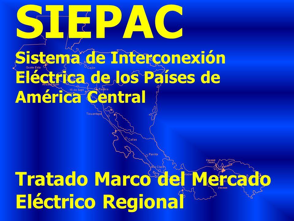 SIEPAC Tratado Marco del Mercado Eléctrico Regional