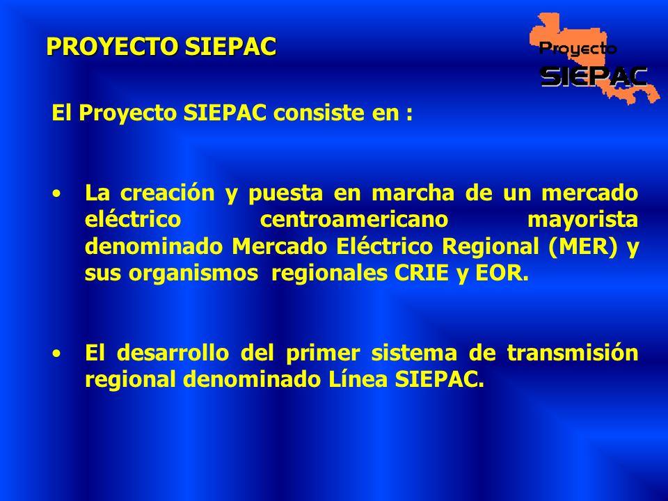 PROYECTO SIEPAC El Proyecto SIEPAC consiste en :
