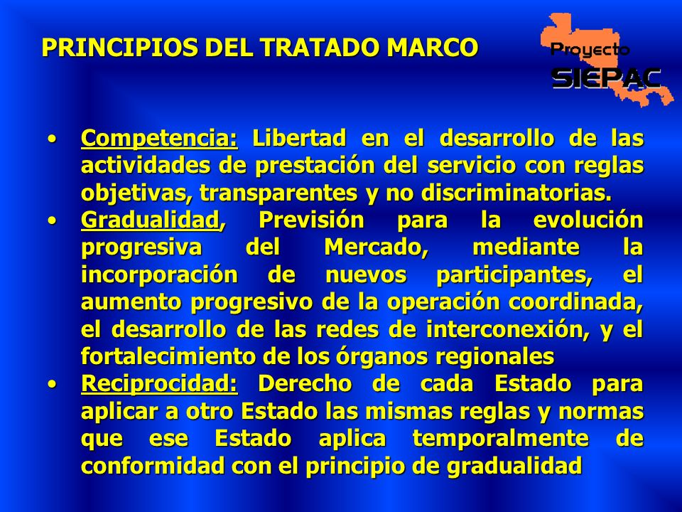 PRINCIPIOS DEL TRATADO MARCO