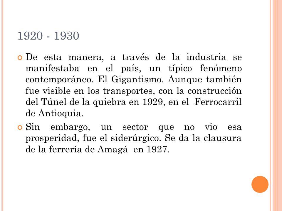 1920 - 1930