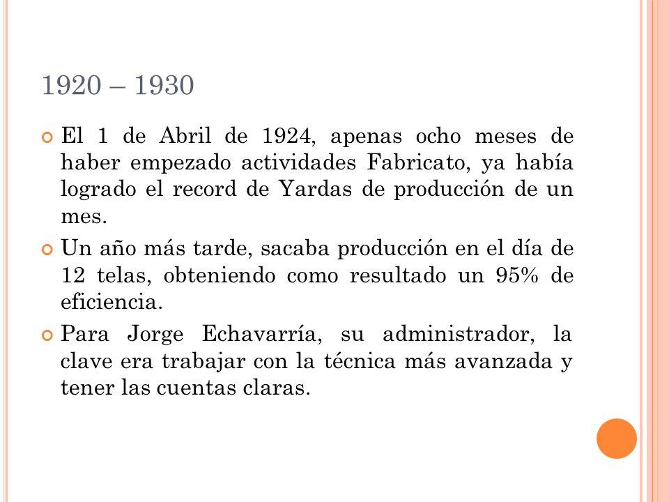 1920 – 1930