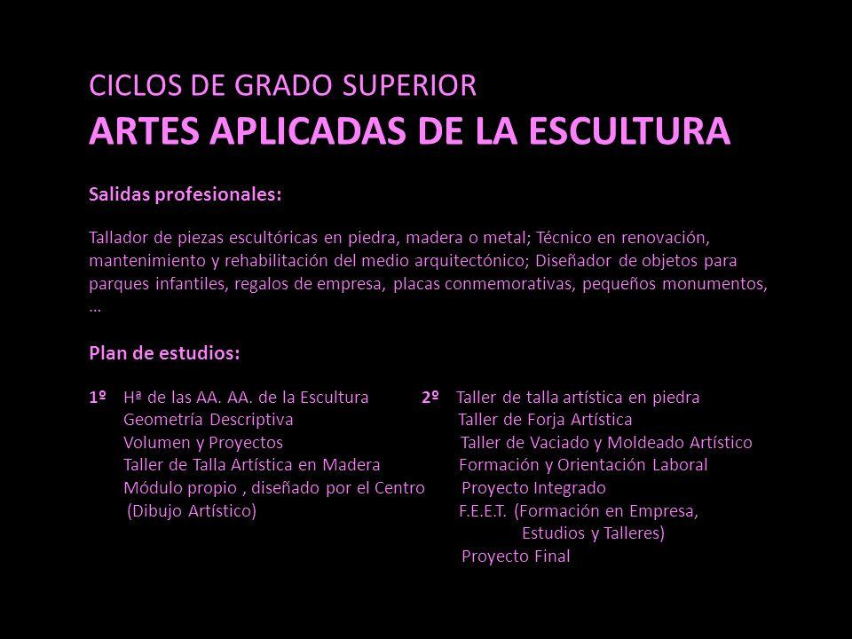 ARTES APLICADAS DE LA ESCULTURA