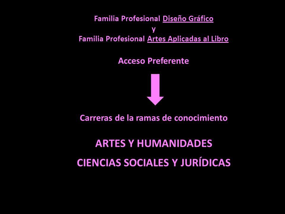 ARTES Y HUMANIDADES CIENCIAS SOCIALES Y JURÍDICAS