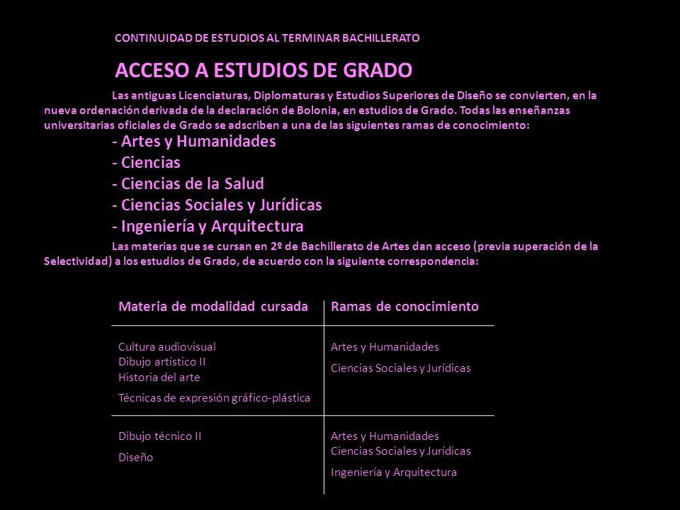 ACCESO A ESTUDIOS DE GRADO