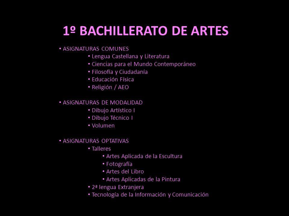 1º BACHILLERATO DE ARTES