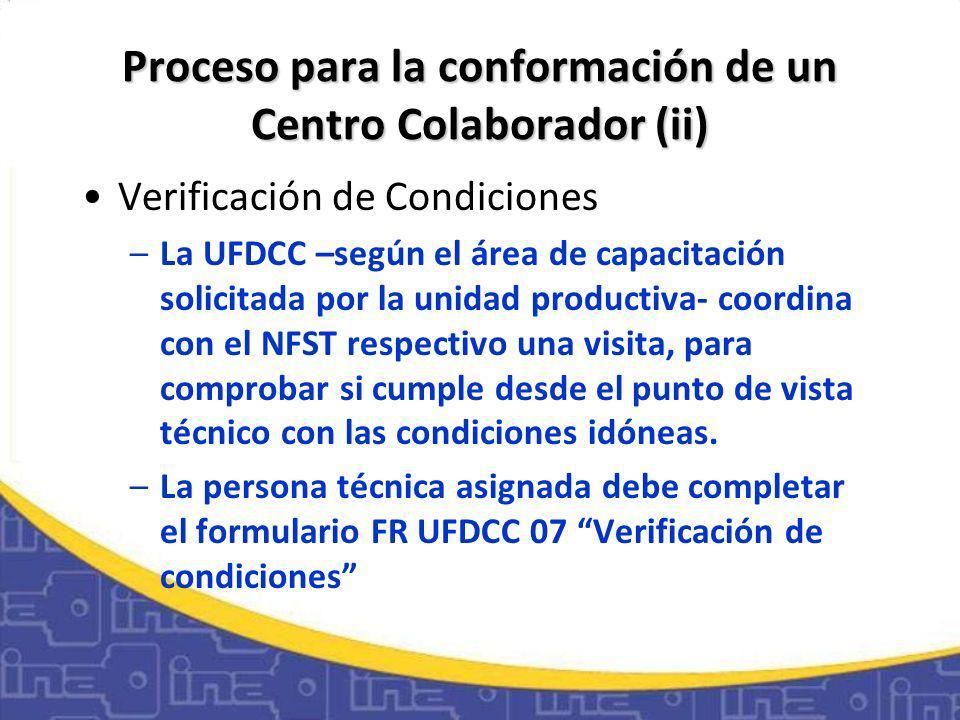 Proceso para la conformación de un Centro Colaborador (ii)