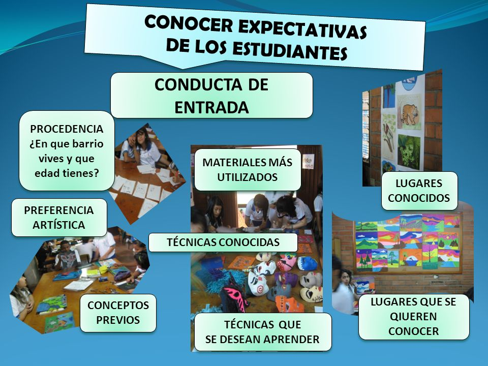 CONOCER EXPECTATIVAS DE LOS ESTUDIANTES CONDUCTA DE ENTRADA