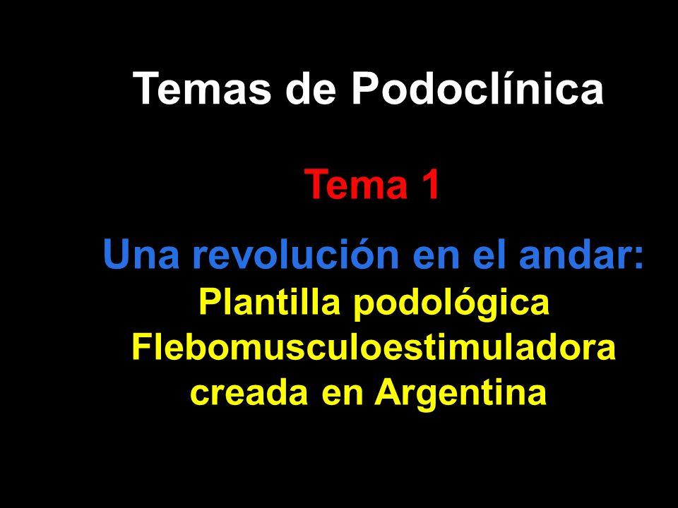 Plantilla podológica Flebomusculoestimuladora