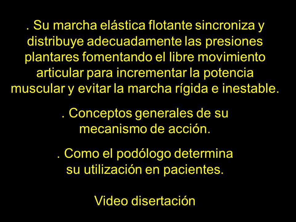 . Conceptos generales de su mecanismo de acción.