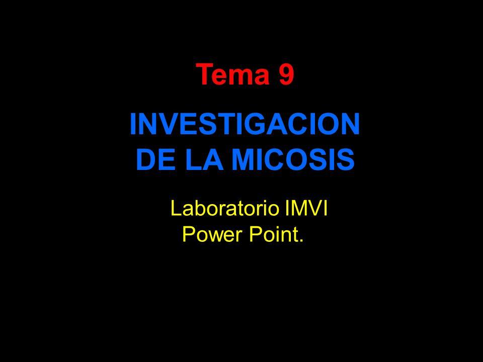 Tema 9 INVESTIGACION DE LA MICOSIS