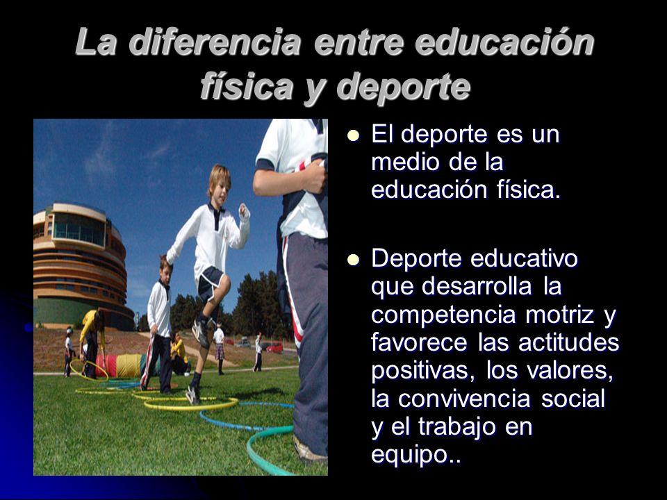 La diferencia entre educación física y deporte