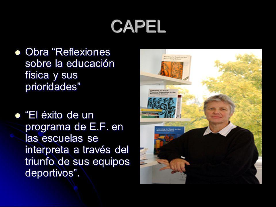 CAPEL Obra Reflexiones sobre la educación física y sus prioridades