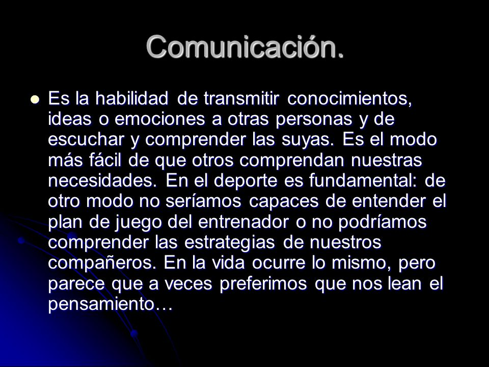 Comunicación.