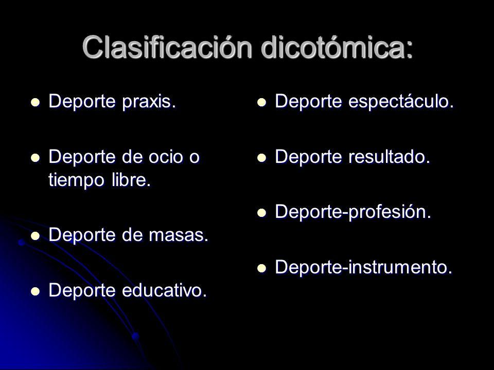 Clasificación dicotómica: