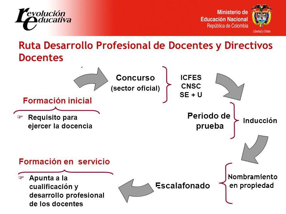 Ruta Desarrollo Profesional de Docentes y Directivos Docentes