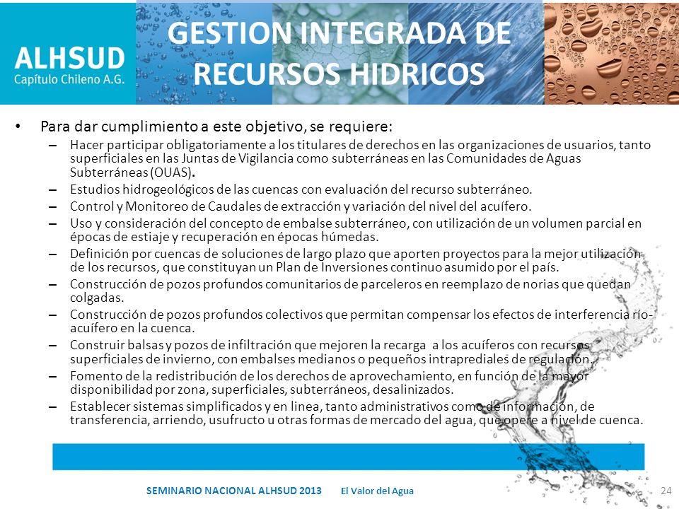 GESTION INTEGRADA DE RECURSOS HIDRICOS