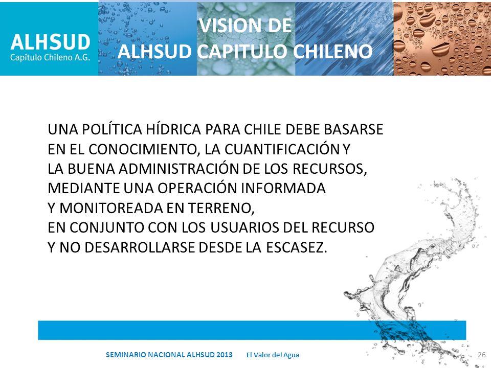 VISION DE ALHSUD CAPITULO CHILENO