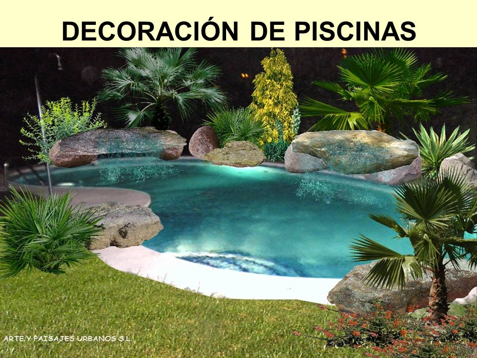 DECORACIÓN DE PISCINAS