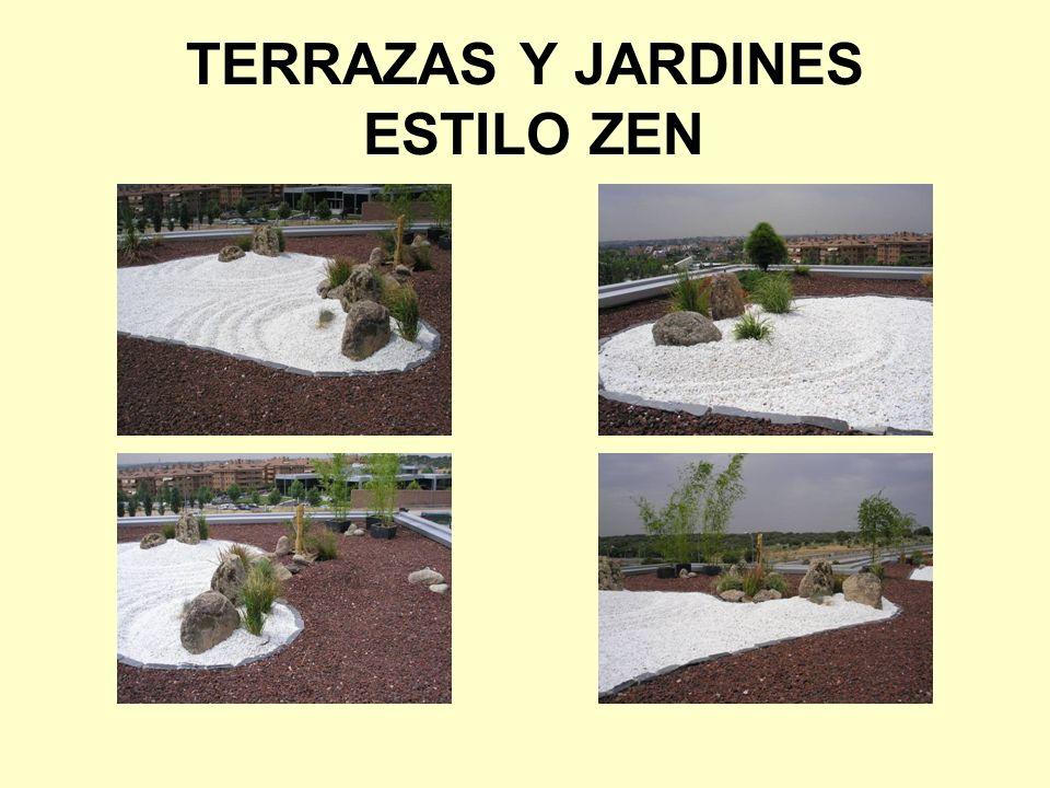 TERRAZAS Y JARDINES ESTILO ZEN