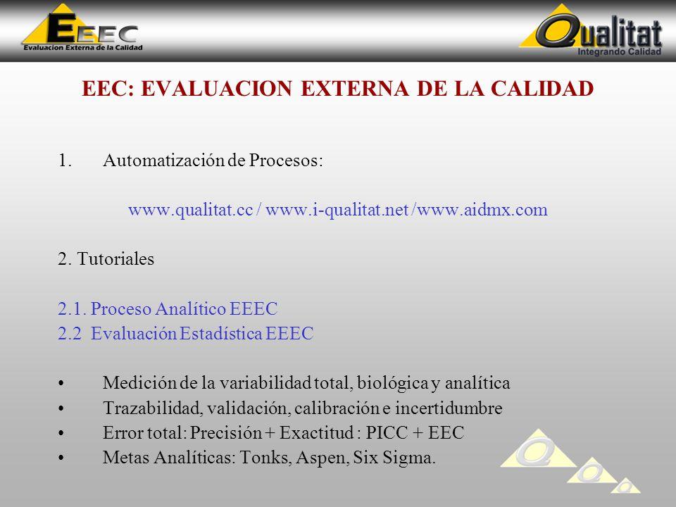 EEC: EVALUACION EXTERNA DE LA CALIDAD