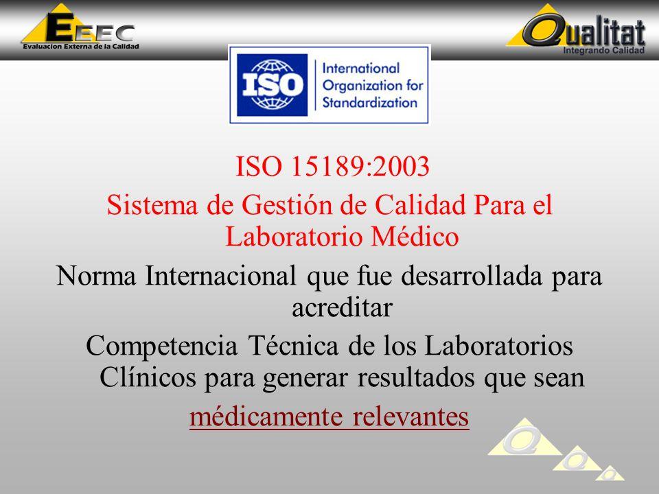 Sistema de Gestión de Calidad Para el Laboratorio Médico