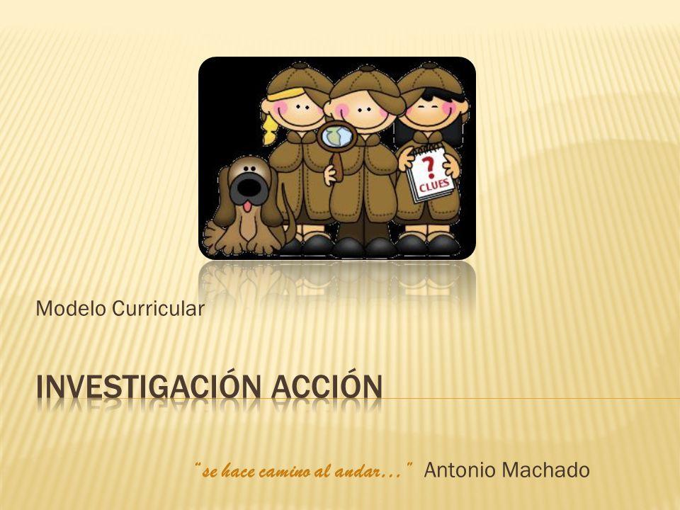 Modelo Curricular se hace camino al andar… Antonio Machado