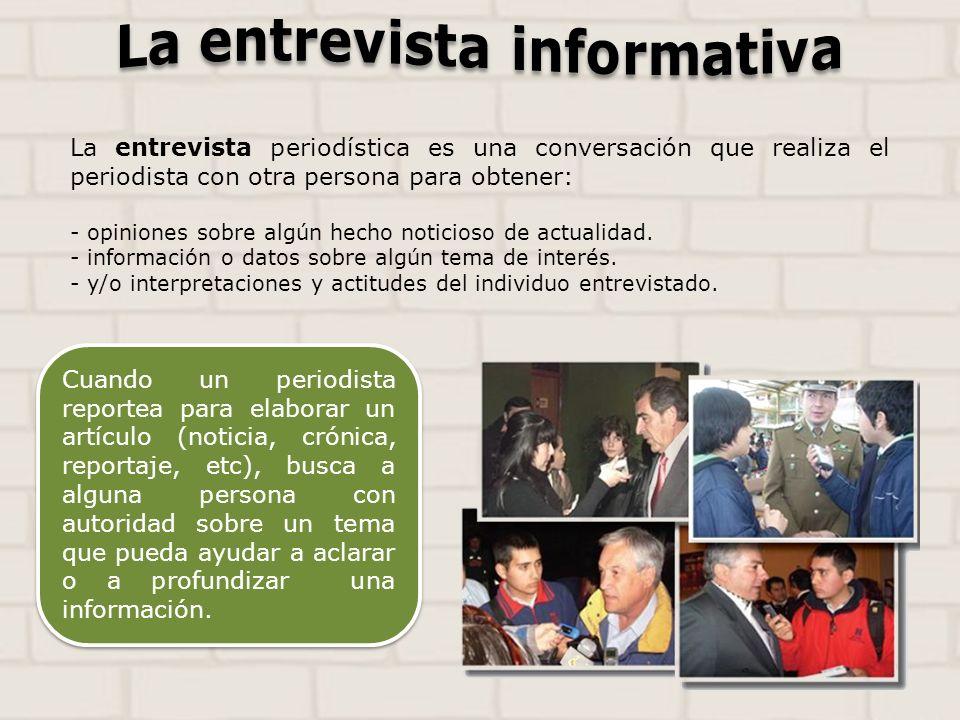 La entrevista informativa