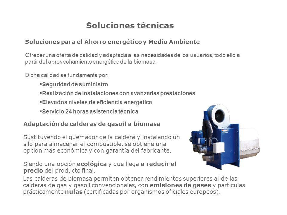 Soluciones técnicas Soluciones para el Ahorro energético y Medio Ambiente.