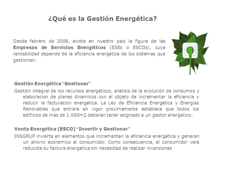 ¿Qué es la Gestión Energética