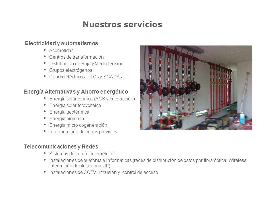 Nuestros servicios Electricidad y automatismos