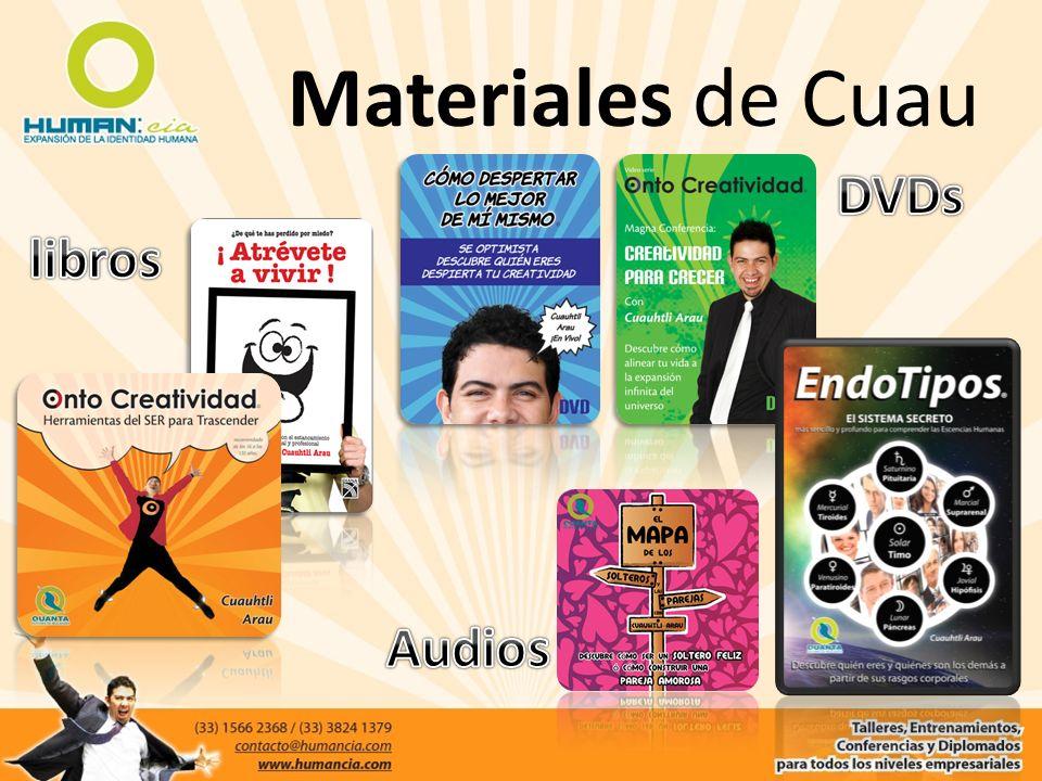Materiales de Cuau DVDs libros Audios