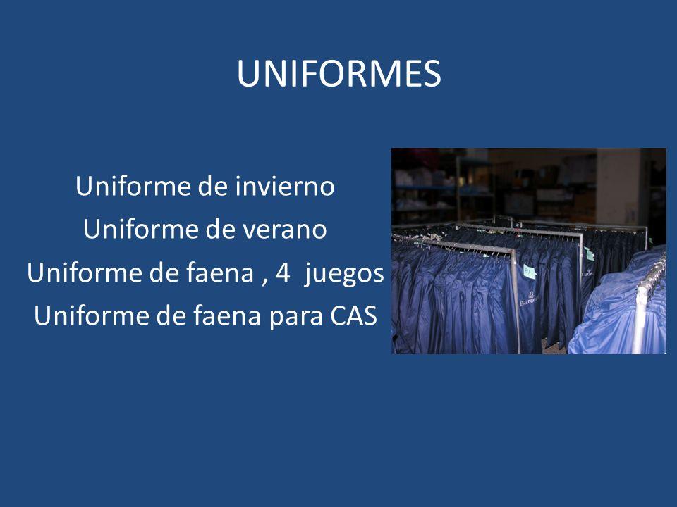 UNIFORMES Uniforme de invierno Uniforme de verano