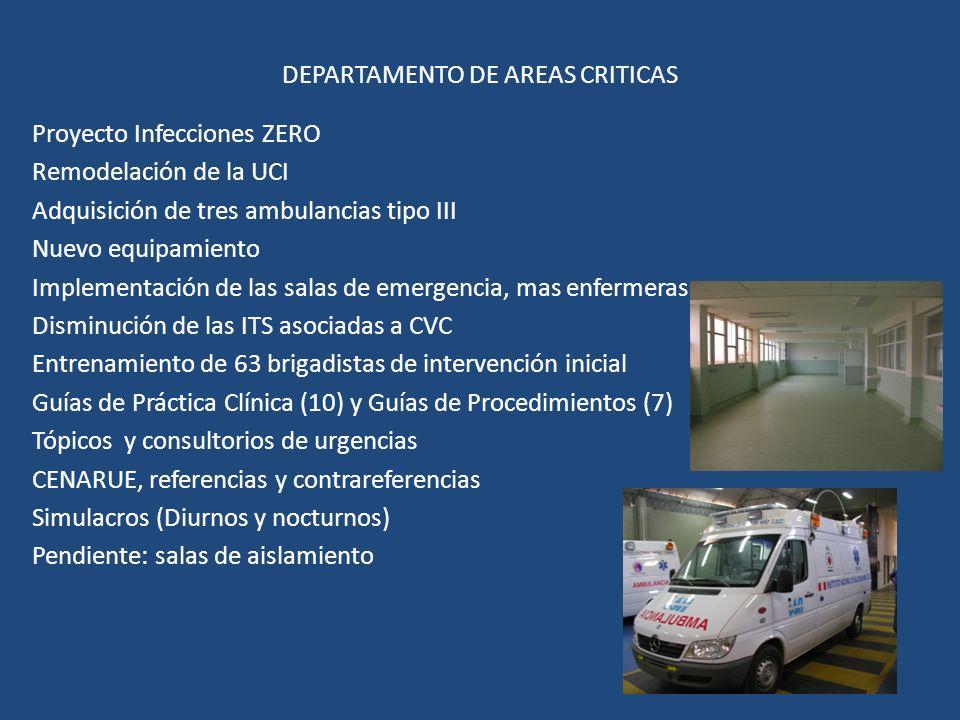 DEPARTAMENTO DE AREAS CRITICAS