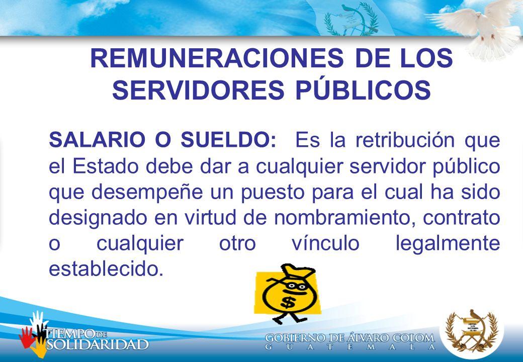 REMUNERACIONES DE LOS SERVIDORES PÚBLICOS