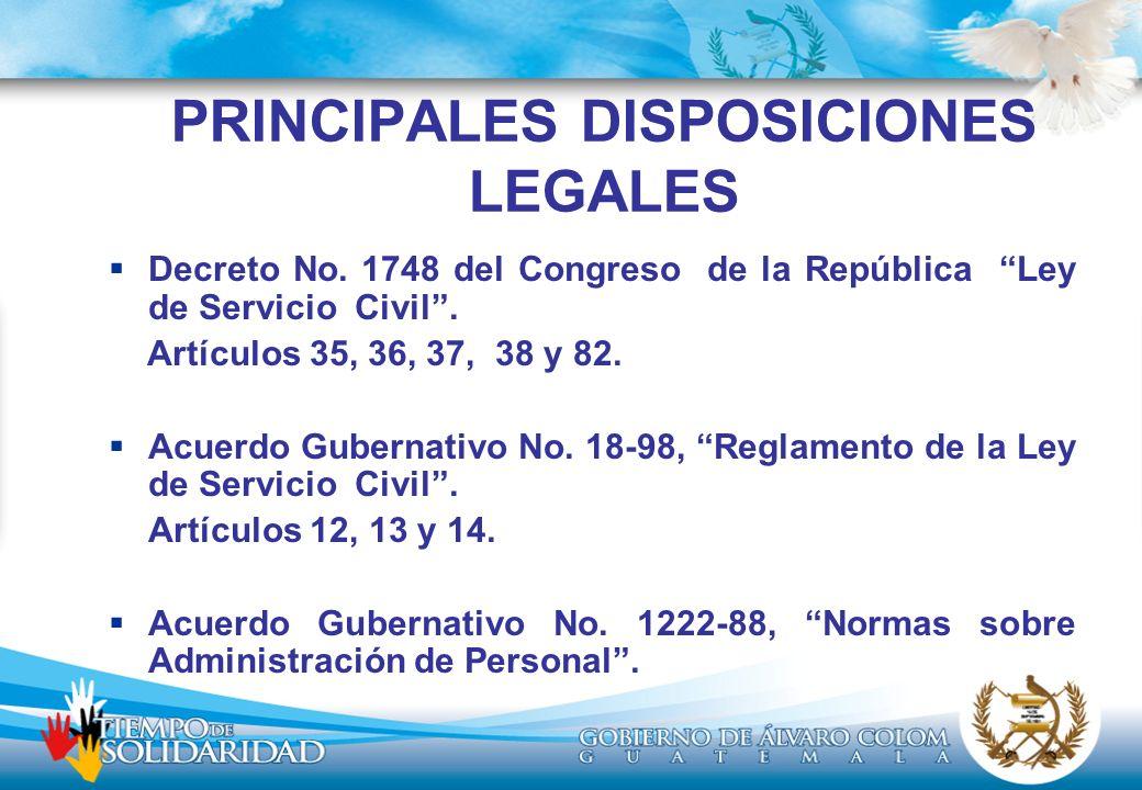 PRINCIPALES DISPOSICIONES LEGALES